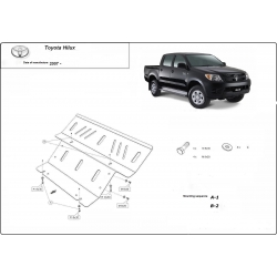 Toyota Hilux II (cover under the engine) 3.0D - Metal sheet