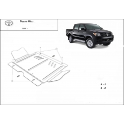 Toyota Hilux II (cover gearbox) 3.0D - Metal sheet