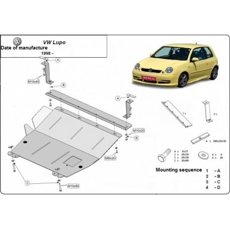VW Lupo (cover under the engine) - Metal sheet