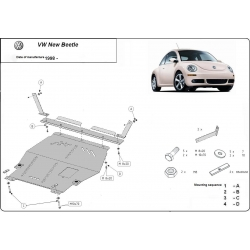 VW Beetle (cover under the engine) 1.6, 1.8 Turbo, 2.0 - Metal sheet