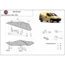 Fiat Scudo kryt pod motor 1.8, 1.9D, 1.9TD, 2.0HDI, 2.3JTD, 2.5TD, 2.8JTD - Plech