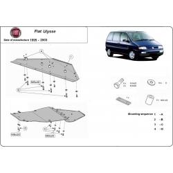 Fiat Ulysse (cover under the engine) 1.8, 1.9D, 1.9TD, 2.0HDI, 2.3JTD, 2.5TD, 2.8JTD - Metal sheet