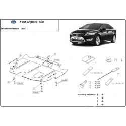 Ford Mondeo IV (cover under the engine) 1.8, 2.0, 2.2TDi - Metal sheet