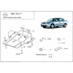 Opel Astra F kryt pod motor - Plech