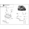 Skoda Roomster 9N (cover under the engine) 1.2, 1.4, 1.9TDi - Metal sheet