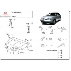 Seat Cordoba (cover under the engine) 9N, 1.2, 1.4, 1.9TDi - Metal sheet