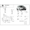 Skoda Fabia (cover under the engine) 9N, 1.2, 1.4, 1.9TDi - Metal sheet