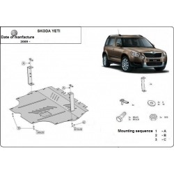 Skoda Yeti (cover under the engine) 1.2, 1.4TSI, 1.6TDi - Metal sheet