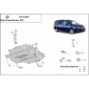 VW Caddy (cover under the engine) 1.2, 1.4, 1.6TDi - Metal sheet
