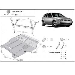 VW Golf 4 (cover under the engine) 1.4, 1.6(101HP), 1.8, 1.8RS, 1.9TD, 2.0, 2.3 V5 - Metal sheet