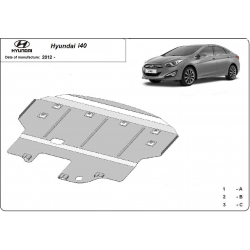 Hyundai I40 (cover under the engine) - Metal sheet