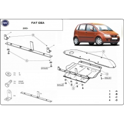 Fiat Idea (cover under the engine) - Metal sheet