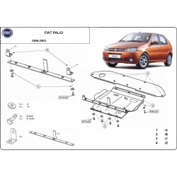 Fiat Palio (cover under the engine) - Metal sheet