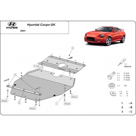 Hyundai Coupe GK (cover under the engine) - Metal sheet
