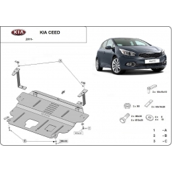 Kia Ceed (cover under the engine) 1.4, 1.6 - Metal sheet