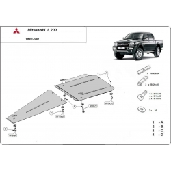 Mitsubishi L200 (cover převodovky a diferenciálu) - Metal sheet