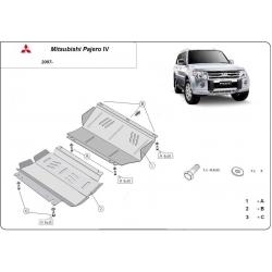 Mitsubishi Pajero IV (V80, V90) (cover under the engine) 3.8, 3.2 Di-D - Metal sheet