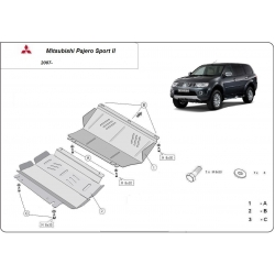 Mitsubishi Pajero Sport II (cover under the engine) 2.5Td, 3.0, 3.2Td, 3.5 - Metal sheet