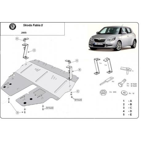 Škoda Fabia kryt pod motor - Plech