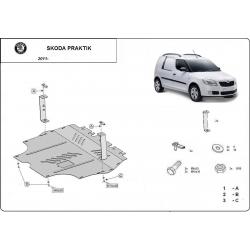 Škoda Praktik kryt pod motor 1.2, 1.4, 1.9 Tdi - Plech
