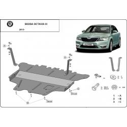 Škoda Octavia III (cover under the engine) 1.2Tsi, 1.6 - Metal sheet