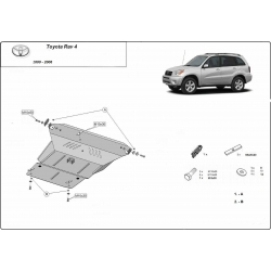Toyota Rav4 (cover under the engine) 1.8, B, 2.0, 2.4, Tdi - Metal sheet