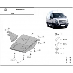 VW Crafter (cover under the engine) 2.2, 2.5, 3.0, TD - Metal sheet