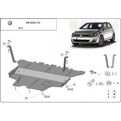 Vw Golf VII (cover under the engine) 1.2Tsi, 1.4, 1.6 - Metal sheet