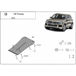 VW Touareg (cover under the engine) 2.0, 2.5 TDi, 3.0 TDi, 3.2 V6 - Metal sheet