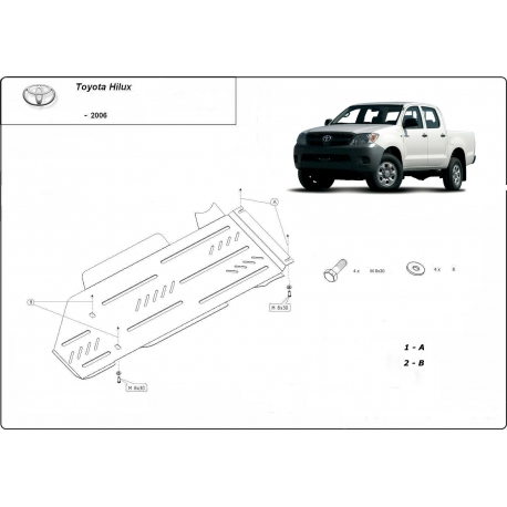 Toyota Hilux I (differential cover a převodovky) - Metal sheet