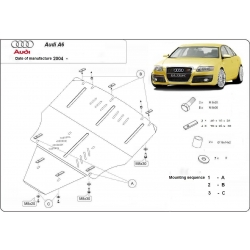 Audi A6 (cover under the engine) - Metal sheet