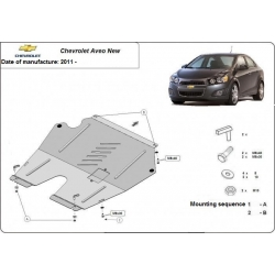 Chevrolet Aveo (cover under the engine) 1.4B, 1.6D - Metal sheet