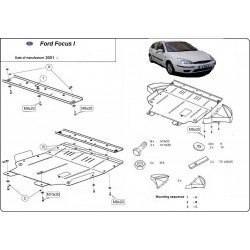 Ford Focus I (cover under the engine) - Metal sheet