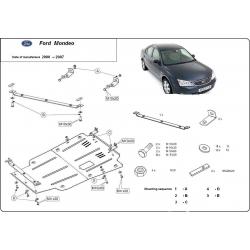 Ford Mondeo III (cover under the engine) 1.8 16V, 2.0 16V, 2.0TD, 2.2TDCi - Metal sheet