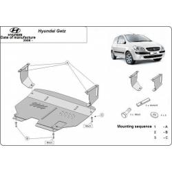 Hyundai Getz (cover under the engine) 1.1, 1.3, 1.6 - Metal sheet