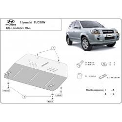 Hyundai Tucson (cover under the engine) 2.0 CRDi, 2.7 Allroad - Metal sheet
