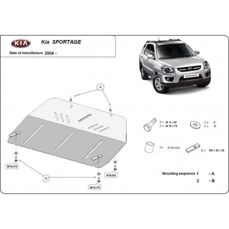 Kia Sportage (cover under the engine) 2.0 CRDi, 2.7 Allroad - Metal sheet
