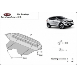 Kia Sportage (cover under the engine) 1.5, 1.6, 2.0 CRDi - Metal sheet