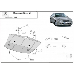 Mercedes E-Classe W211 (cover under the engine) - Metal sheet