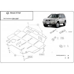 Nissan X-Trail (cover under the engine) 2.0, 2.2, 2.4TDi - Metal sheet