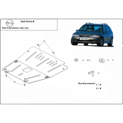 Opel Vectra B (cover under the engine) - Metal sheet