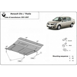 Renault Clio/Thalia (cover under the engine) 1.4, 1.5Dci, 1.8D, 1.9DTi - Metal sheet