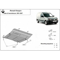 Renault Kangoo (cover under the engine) 1.4, 1.5Dci, 1.8D, 1.9DTi - Metal sheet