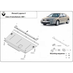 Renault Laguna II (cover under the engine) 1.6, 1.8, 1.9dCi, 2.0dCi, 2.2dCi, 3.0V6 - Metal sheet