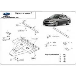 Subaru Impreza (cover under the engine) D - Metal sheet