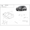 Toyota Auris (cover under the engine) 1.4, 1.6, 1.8, 2.0D - Metal sheet