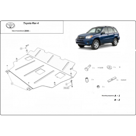 Toyota Rav4 (cover under the engine) 2.4 - Metal sheet