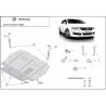 VW Passat New (cover under the engine) 2.0TDi, 2.0TFSI quattro - Metal sheet
