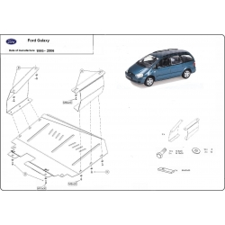Ford Galaxy (cover under the engine) - Metal sheet
