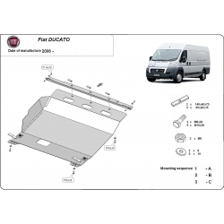 Fiat Ducato (cover under the engine) 2.2HDi, 2.3TD, 3.0HDi - Metal sheet